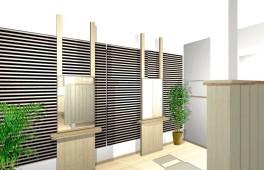 美容室の改修パース(カットブース)