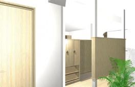 美容室の改修パース(ロビー)